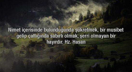 Hz. Hasan Sözleri